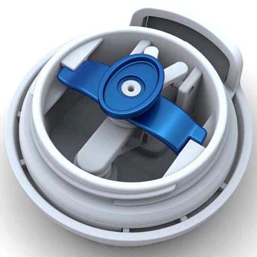Термостакан Contigo Morgan бело-голубой 360 мл с антипроливной защитой
