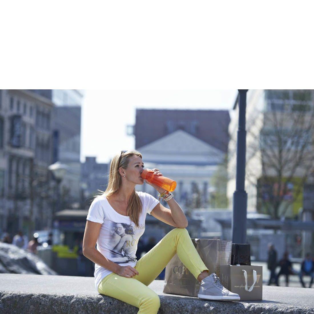Бутылка спортивная Contigo Rush 550 мл полупрозрачная цвета лайма