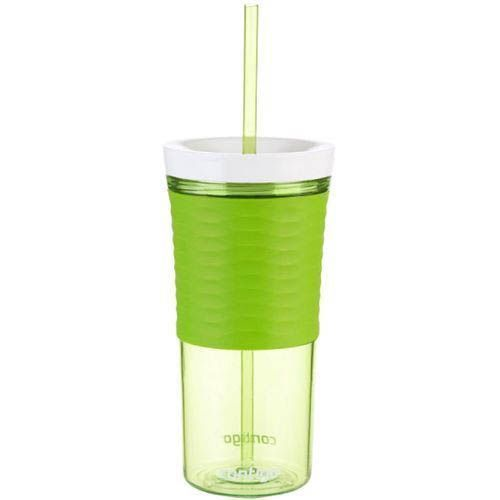 Стакан с соломкой Contigo Shake & Go зеленого цвета 540 мл