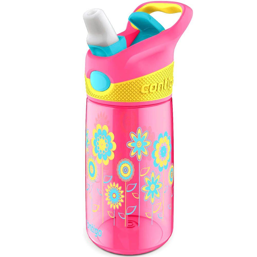 Бутылка детская Contigo Striker 420 мл розовая с цветами