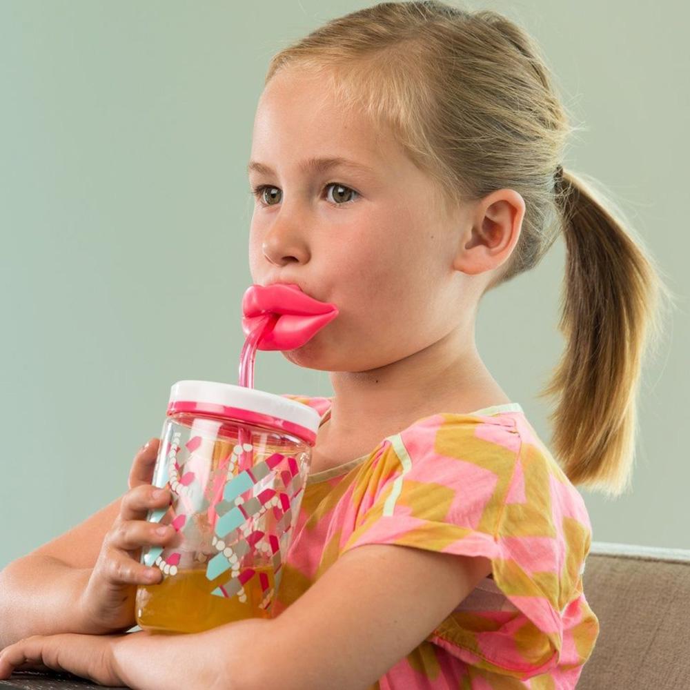 Детский стакан с трубочкой Contigo Funny Straw 470 мл