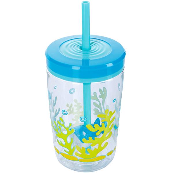Детский стакан с трубочкой Contigo Floating Straw Tumbler 470 мл