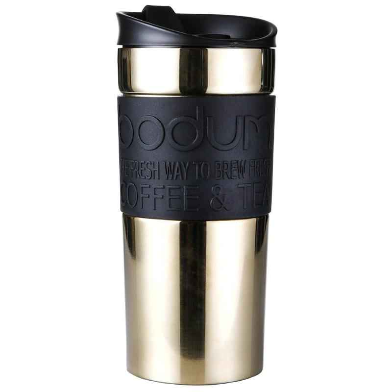 Термокружка Bodum Travel Mug gold-black 0,35л