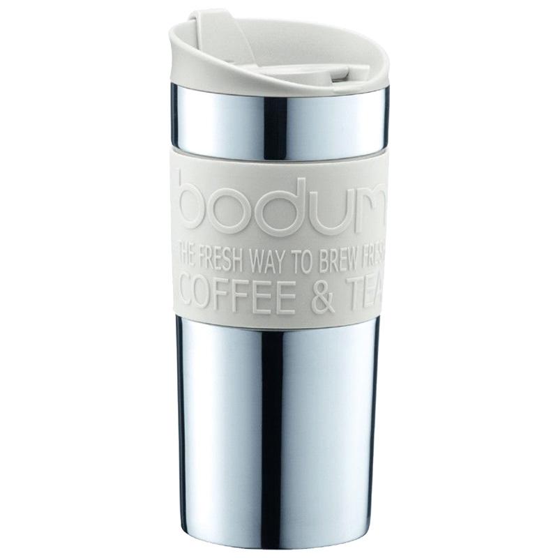 Кремовая термокружка Bodum Travel Mug 0,35л