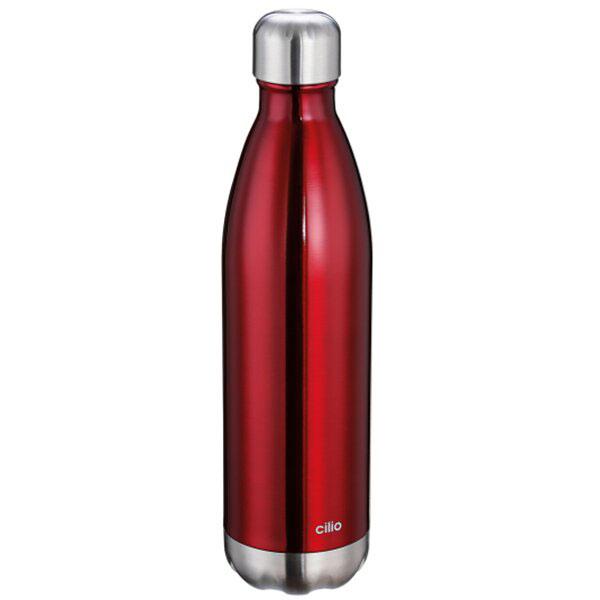 Термос 500мл Cilio Coffee and Tea в форме бутылки красного цвета