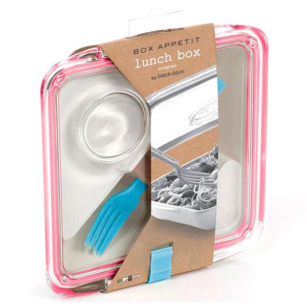Ланч-бокс квадратный Black+Blum Box Appetit розовый