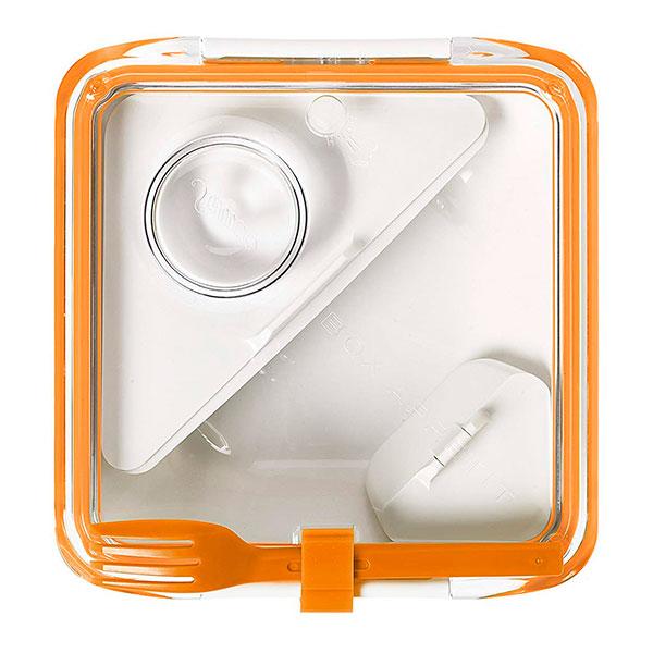 Ланч-бокс квадратный Black+Blum Box Appetit оранжевый