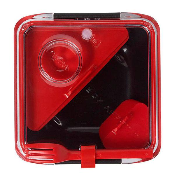 Ланч-бокс квадратный Black+Blum Box Appetit черный с красным