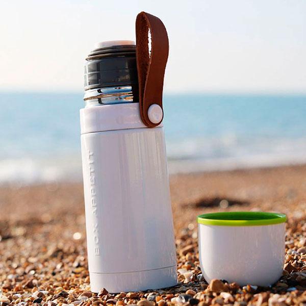 Термос стальной Black+Blum Thermo Flask белый