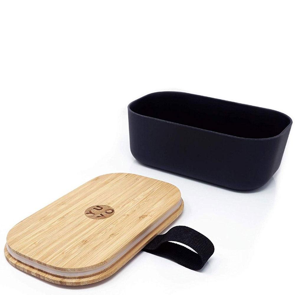 Черный ланч-бокс Be Different Bamboo Box