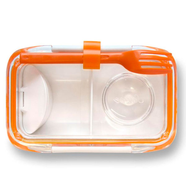 Ланч-бокс прямоугольный Black+Blum Bento Box с оранжевым