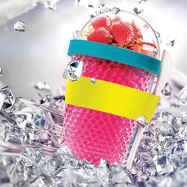 Розовый термоконтейнер Asobu Chill Yo 2 Go с ложкой