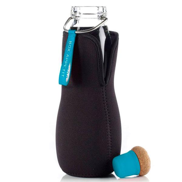Эко-бутылка стеклянная Black+Blum Eau Good с голубым декором