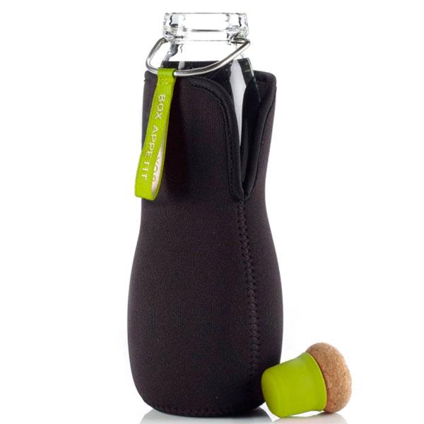 Эко-бутылка стеклянная Eau Good с зеленой лентой