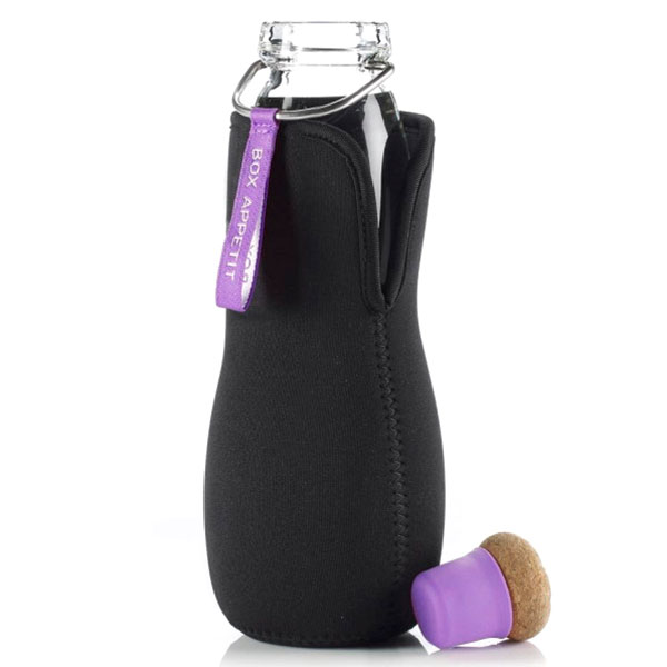 Эко-бутылка стеклянная Eau Good с фиолетовым