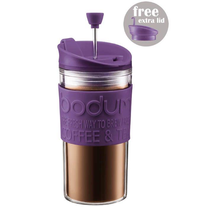 Стакан Bodum Mini Travel Press френч-пресс фиолетовый 0,35 л