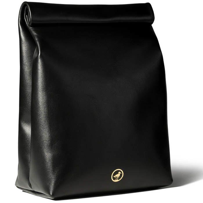 Пакет для ланчей Moreca Lunch Bag кожаный черного цвета
