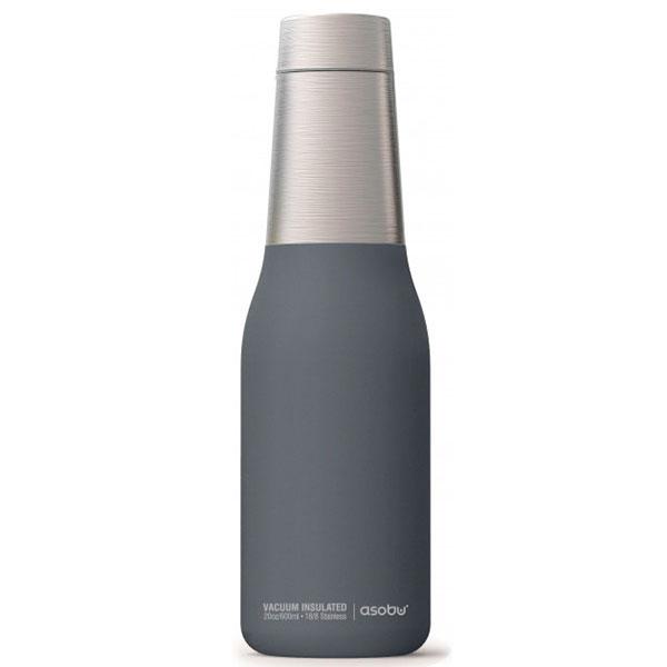 Термобутылка Asobu Oasis серого цвета 590мл