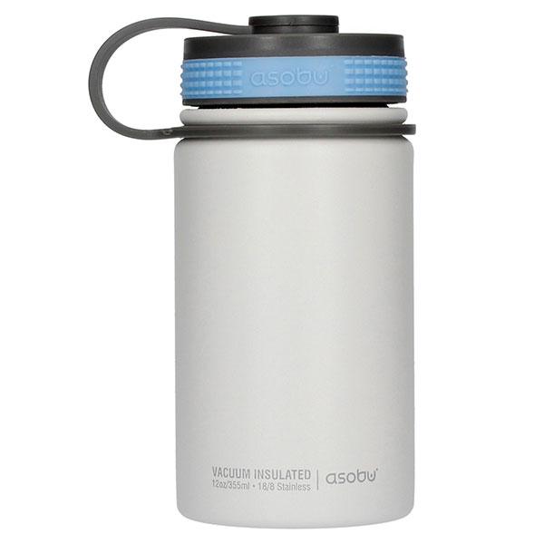 Термобутылка Asobu Mini Hiker белого цвета