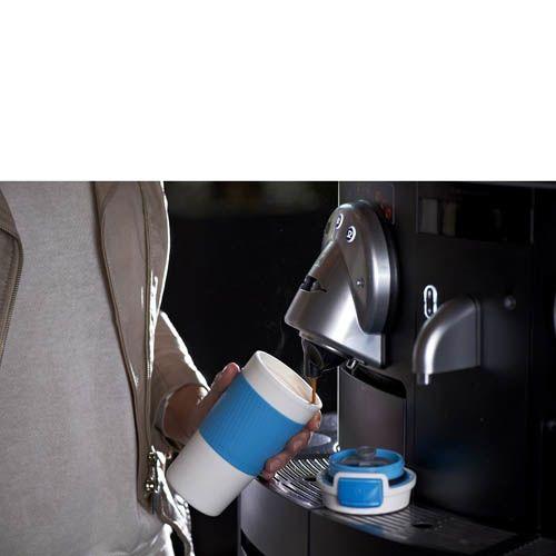 Термостакан Contigo Morgan бело-голубой 360 мл с антипроливной защитой, фото