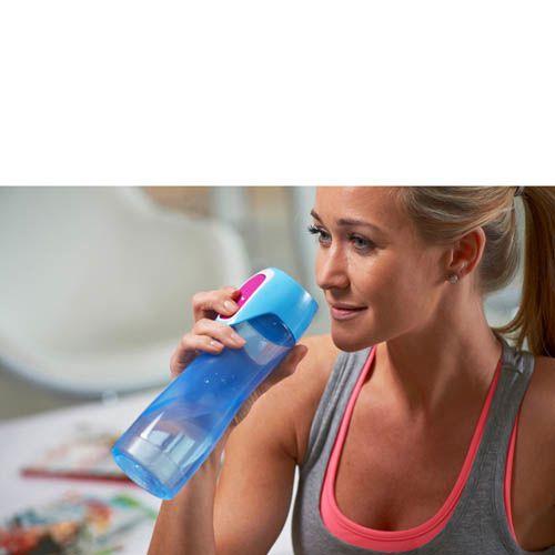 Бутылка спортивная Contigo Rush 550 мл полупрозрачная голубая, фото