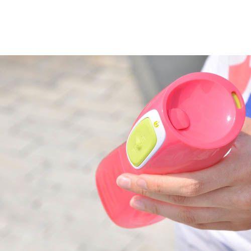 Бутылка Contigo Kids Trekker 420 мл непроливаемая детская розовая, фото