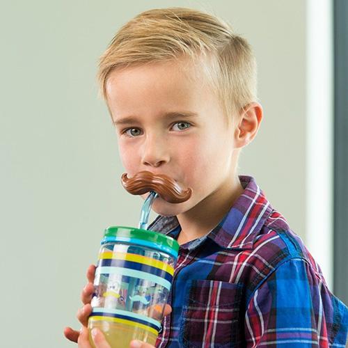 Стакан с соломкой Contigo Funny Straw 470 мл, фото
