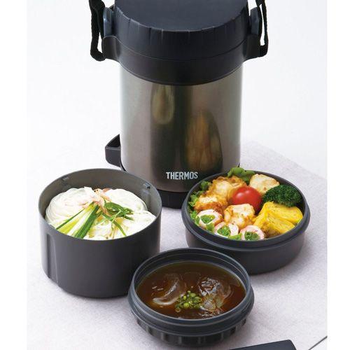 Термос THERMOS с тремя контейнерами для еды, фото