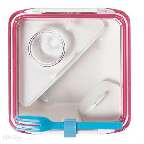 Ланч-бокс квадратный Black+Blum Box Appetit розовый, фото