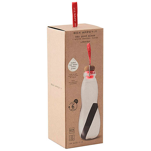 Эко-бутылка стеклянная Black+Blum Eau Good красный, фото