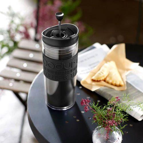Кофейник Bodum Travel Press френч-пресс черный 0,35 л, фото