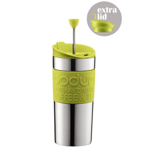 Кофейник Bodum Travel Press френч-пресс зеленый 0,35 л, фото