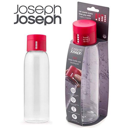 Бутылка для воды Joseph Joseph розовая с индикатором 0,6л, фото