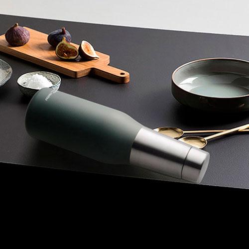 Термобутылка Asobu Oasis серого цвета 590мл, фото