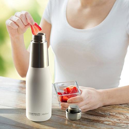 Термобутылка Asobu Oasis белого цвета 590мл, фото