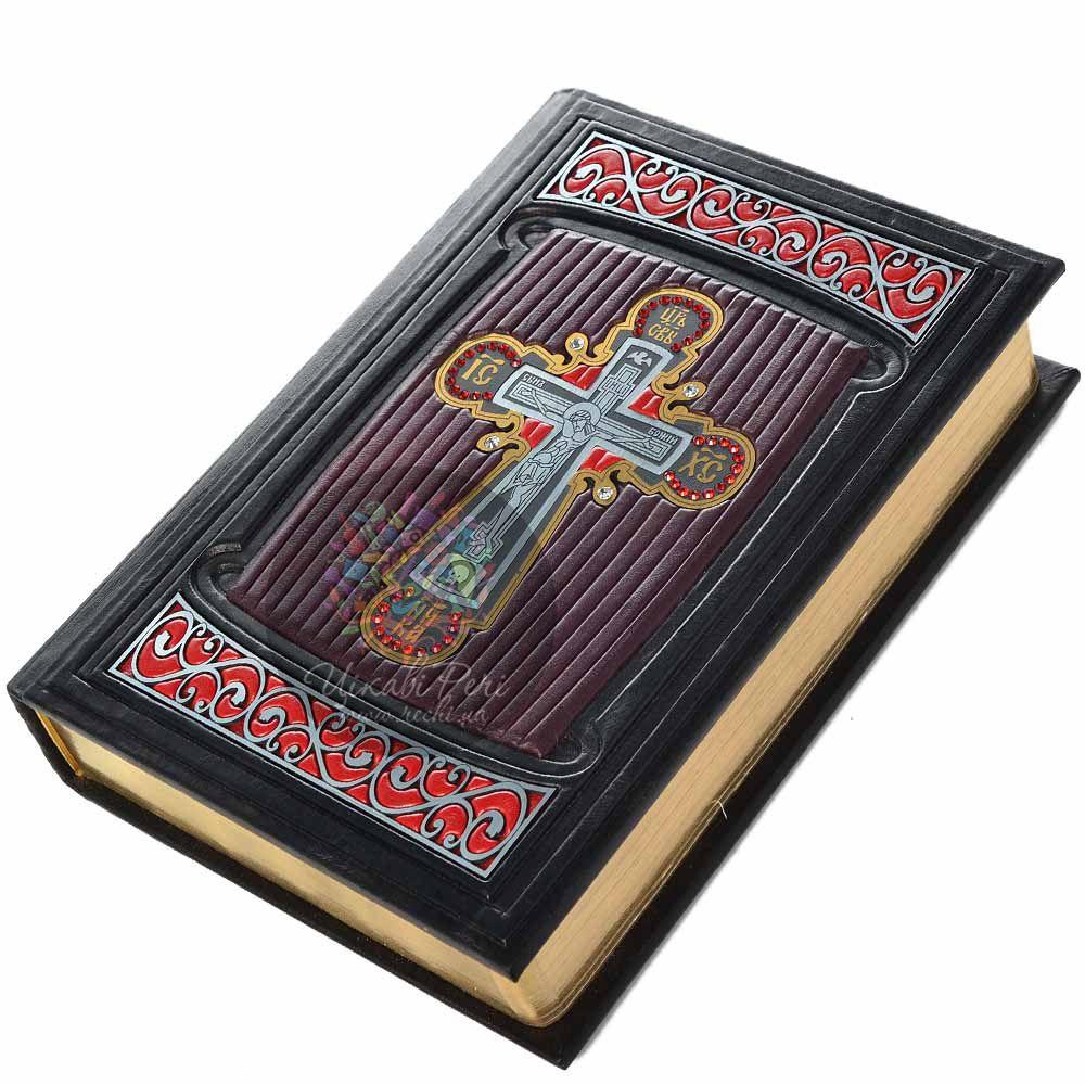 Библия Крест с кристаллами Swarovski