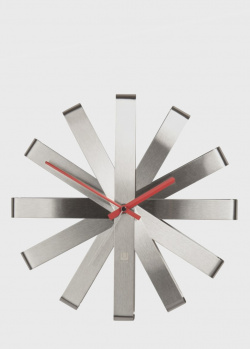 Настенные часы Umbra Ribbon Steel из нержавеющей стали, фото
