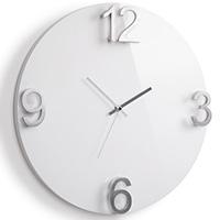 Белые настенные часы Umbra Elapse, фото