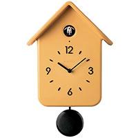 Часы настенные Guzzini Home с кукушкой желтого цвета 30см, фото
