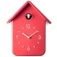 Часы настенные Guzzini Home с кукушкой красного цвета 30см, фото