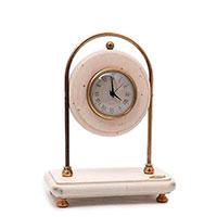 Настольные часы Capanni с подставкой из антикварного дерева белого цвета, фото