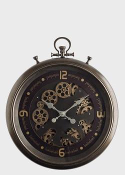 Часы Skeleton Clocks шоколадного цвета с открытым механизмом, фото