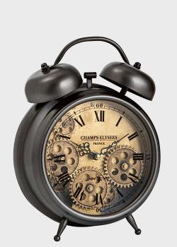 Настольные часы-будильник Skeleton Clocks со стеклянным циферблатом, фото