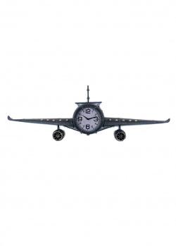 Декоративные часы Loft Clocks & Co Fokker в виде большого самолета, фото
