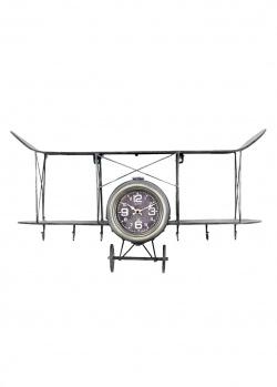 Часы-вешалка для одежды Loft Clocks & Co Louis в виде самолета, фото