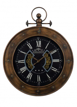 Настенные часы в винтажном стиле Loft Clocks & Co Luzern, фото