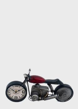 Настольные часы Loft Clocks & Co Red Bike в виде мотоцикла, фото
