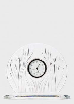 Настольные часы Lalique Iris из хрусталя, фото
