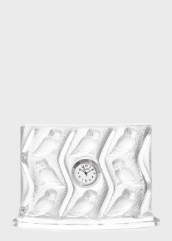 Прямоугольные часы Lalique Hulotte с совами, фото