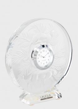 Настольные часы Lalique Jungle с изображением леопардов, фото